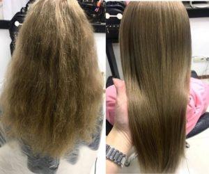 выпрямление волос в Киеве в салоне красоты