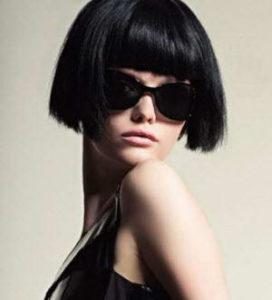 окрашивание волос черные оттенки волос в салоне красоты Киев