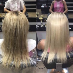 Кератиновое выпрямление волос сложные слабые волосы