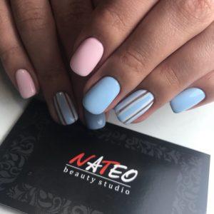 Ногтевой сервис в салоне красоты NATEO, маникюр, комбинированный маникюр в салоне красоты NATEO