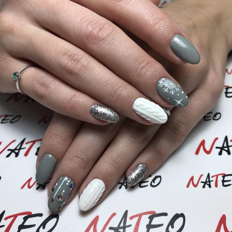 маникюр комби ногтевой сервис Киев Позняки, самые лучшие мастера в салоне красоты NATEO