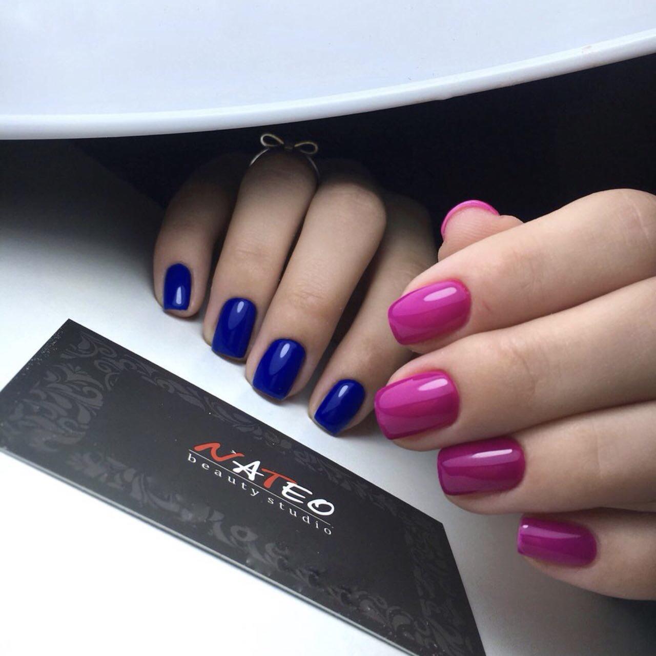 ногтевой сервис комбинированный маникюр красивый дизайн в салоне красоты NATEO